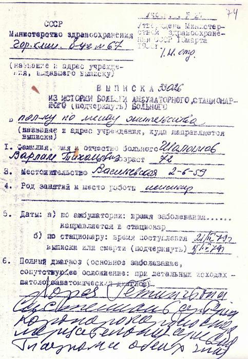 Выписка из истории болезни Царицыно водительская медицинская справка за 1 день