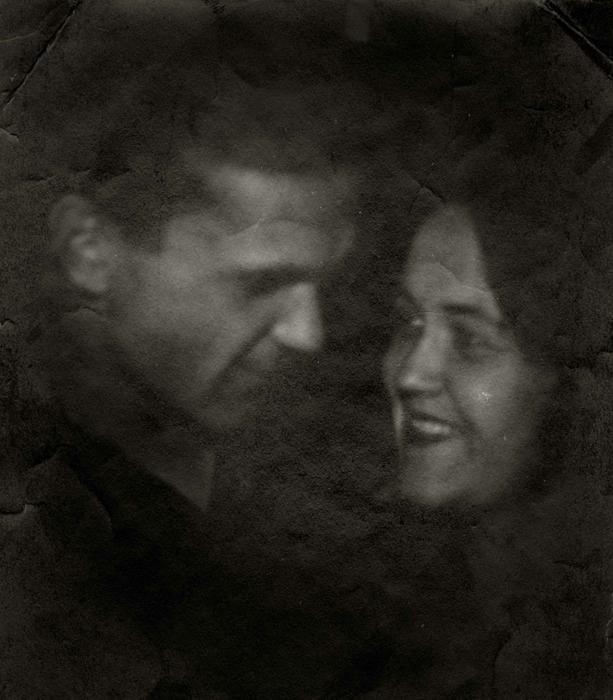 Шаламов с Галиной Игнатьевной Гудзь в первые годы брака