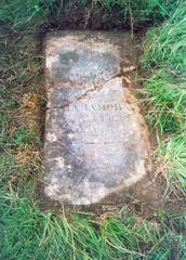 Надгробие на могиле прабабушки Шаламова. Обрадово