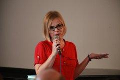 Выступление Джозефины Лундблад на вечере в Москве