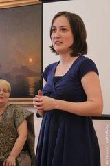 Выступление Анны Гавриловой на вечере в Вологде