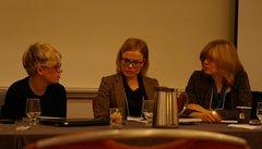Елена Михайлик, Джозефина Лундблад и Лора Клайн на Конференции Американской ассоциации преподавателей славянских и восточноевропейских языков