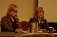 Джозефина Лундблад и Лора Клайн на Конференции Американской ассоциации преподавателей славянских и восточноевропейских языков