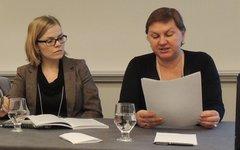 Джозефина Лундблад и Ирина Некрасова на Конференции Американской ассоциации преподавателей славянских и восточноевропейских языков