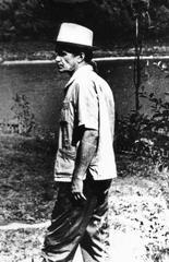 В. Т. Шаламов гуляет на даче Н. Я. Мандельштам