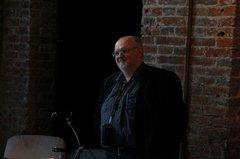 Павел Воробьёв выступает на презентации собрания сочинений В.Т. Шаламова