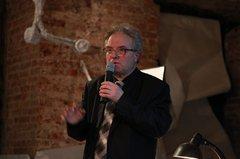 Сергей Гродзенский выступает на презентации собрания сочинений В.Т. Шаламова