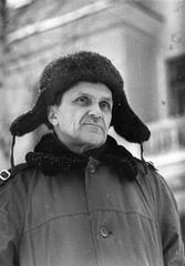 Портрет Шаламова в шапке-ушанке (а)