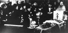 Похороны В.Т. Шаламова. Панорамная фотография (3)